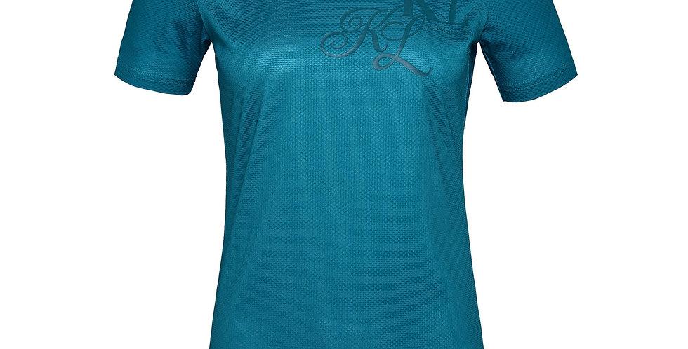 KINGSLAND JANISI LADIES V-NECK SHIRT Blue Lagoon