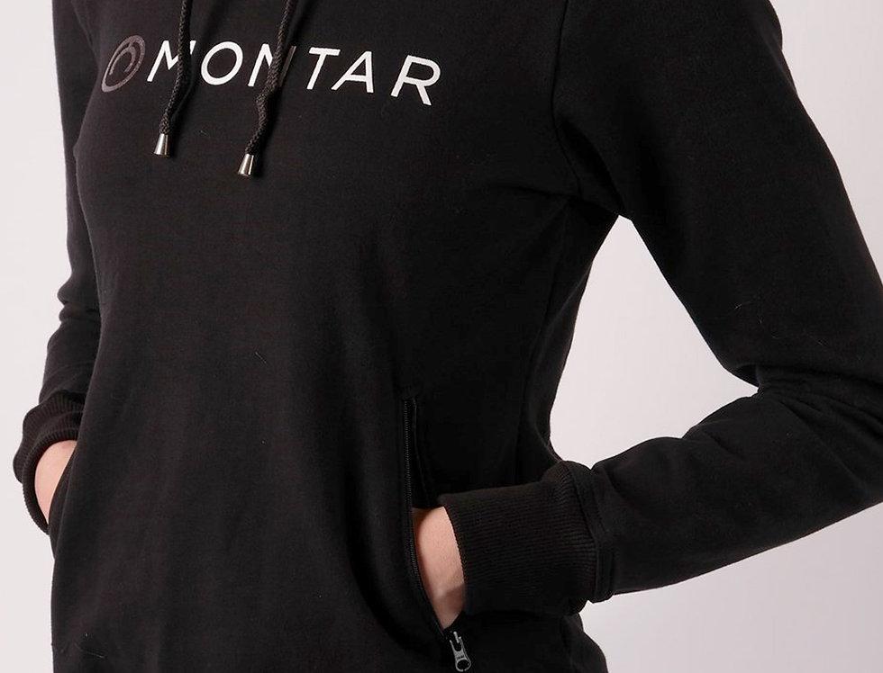 Montar Eloise Logo Tape Hoody -Black