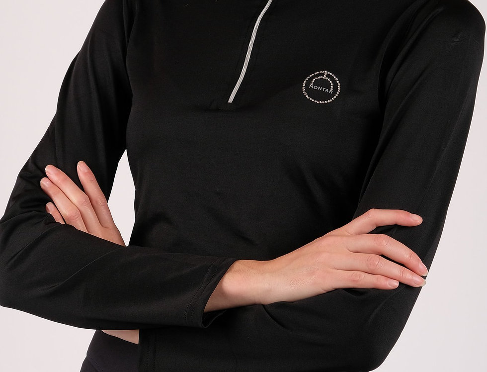 Montar Everly Crystal Logo Baselayer - Black