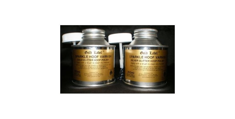 Gold Label Sparkle Hoof Varnish 250ml