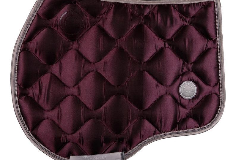 Montar jump Dlux saddle pad -burgundy