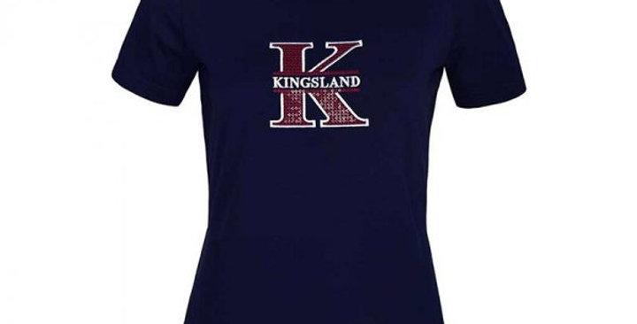 Kingsland Lalita Ladies Round Neck T Shirt Navy