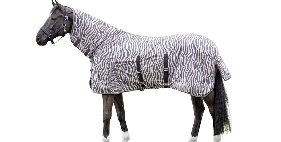 HKM Fly rug with neck -Zebra Rose-
