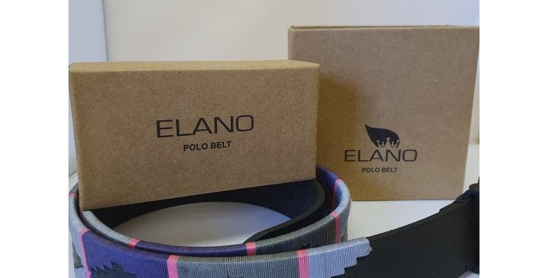 Elano Leather Belt- Grey/lilac/purple