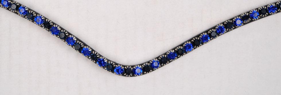 Montar Fair Browband crystal curved blue