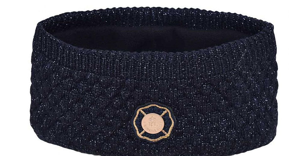 Kingsland Embroidered Headband Navy