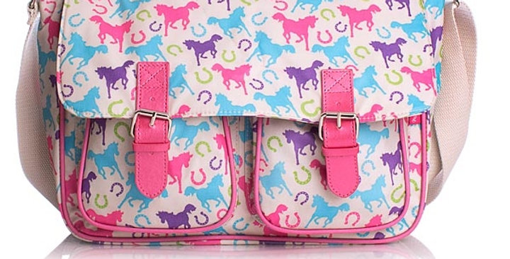 Milly Green Ponies Large Satchel