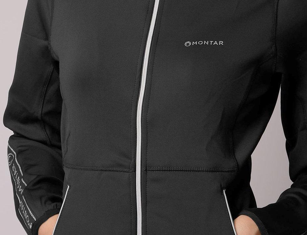 Montar Ronne Softshell Logo Tape Hoody -Black