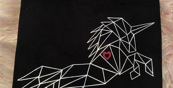 ElizaT Imperfectly Perfect Geometric Unisex Unicorn Sweater -Black