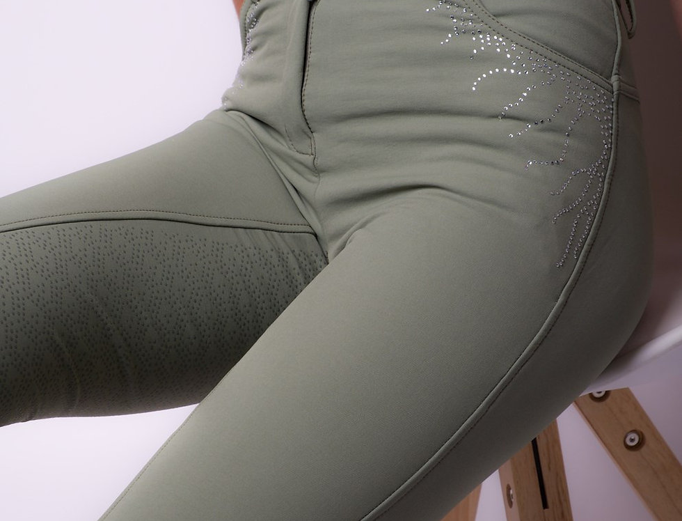 Montar Femke Yati Normalwaist Crystal Lians - Soft Green, Fullgrip
