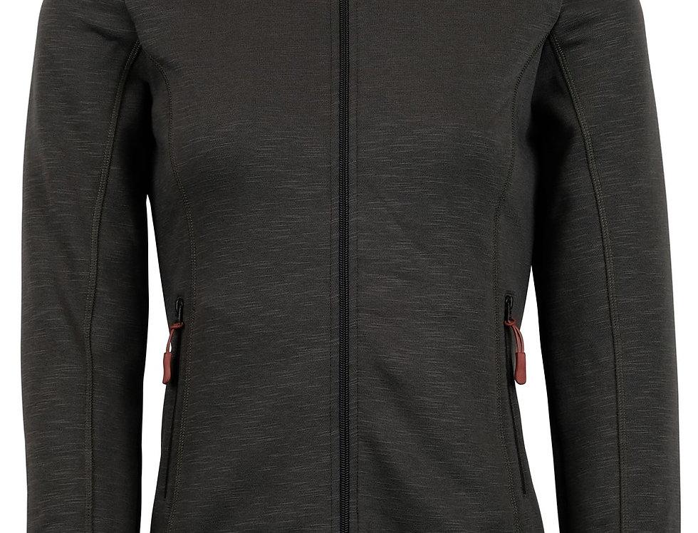 Montar Nadine Sweatshirt with full zipper and sequin logo