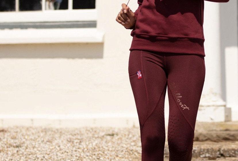 Chillout Signature Burgundy/ Rose gold leggings