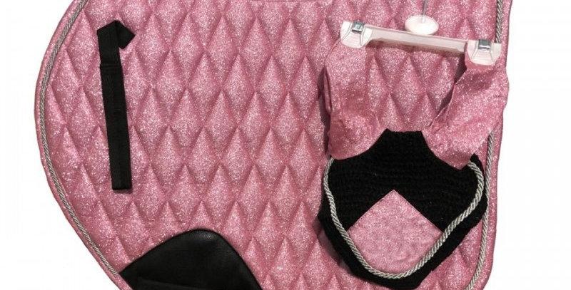 Vogue Glitter Saddle Pad & Veil Set