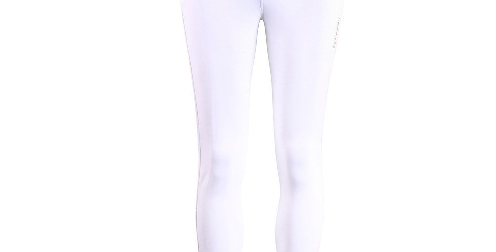 Montar Astrid Gold Pipe Riding Breeches white