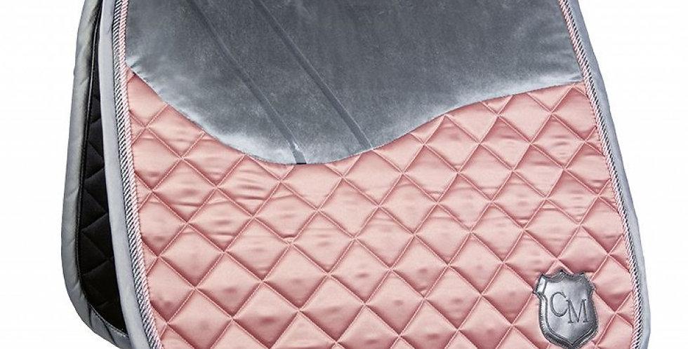 HKM - Saddle Cloth - Topas Velvet - CM Style - Terracotta