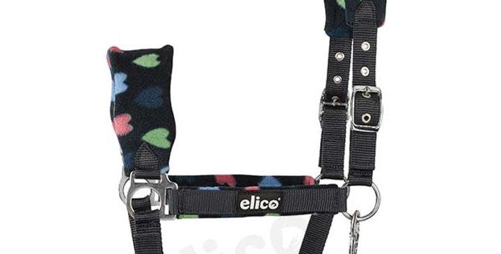 Elico Hearts Fleece Headcollars