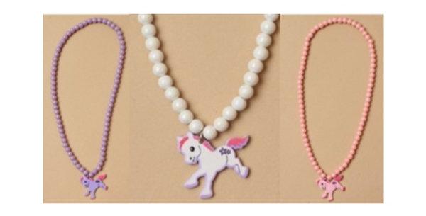 Stretch Necklace with Pony Charm