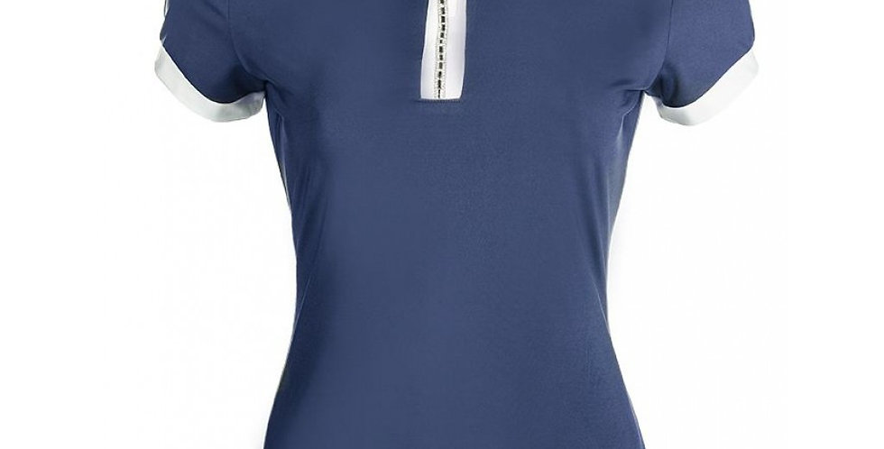 HKM - Competition shirt - Crystal - Deep Blue
