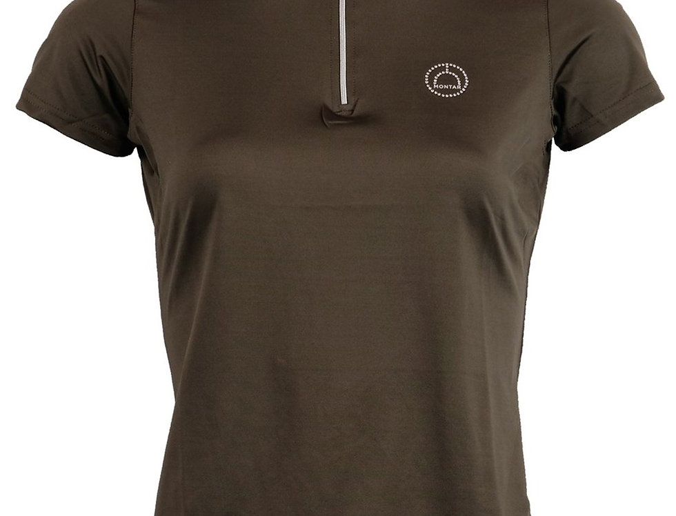 Montar Everly Technical Crystal Polo -Olive