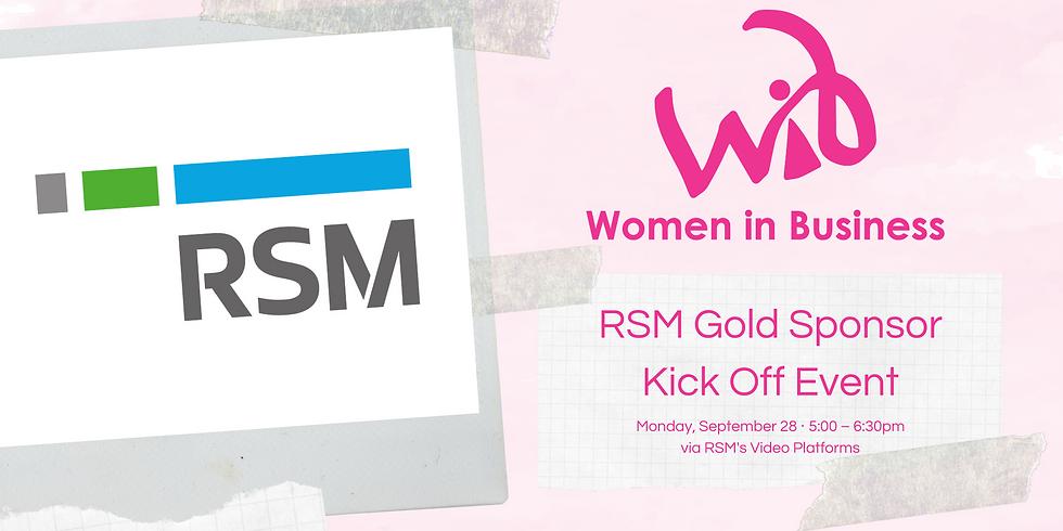 RSM Gold Sponsor Kick Off Event
