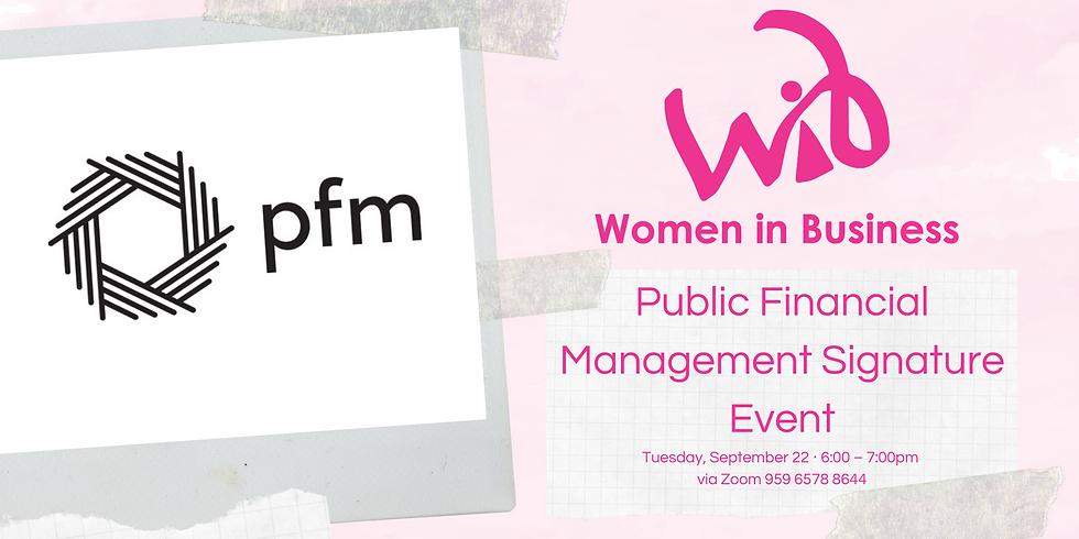 Public Financial Management Signature Event