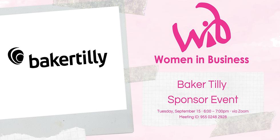 Baker Tilly Sponsor Event