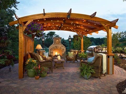 Outdoor Greatroom Pergola