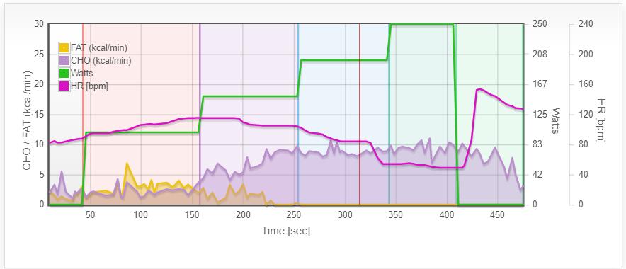 VO2 Results Metabolic Breakdown