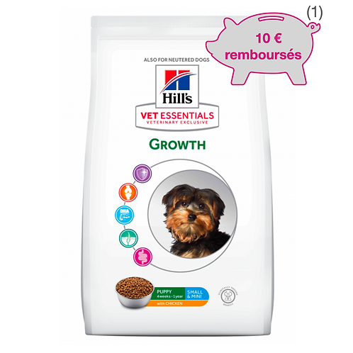Vetessentials Canine Puppy Growth Small Poulet 7kg