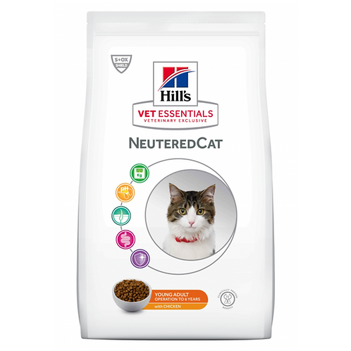 Vetessentials Young Adult Neutered Cat Poulet 14kg