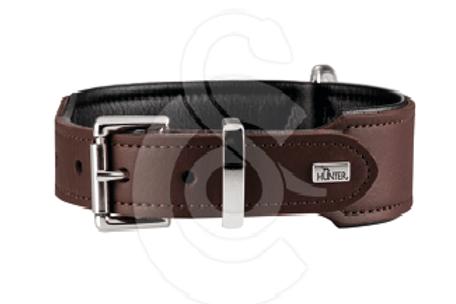 Collier pour chien en cuir marron T50