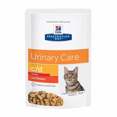 Feline C/D Urinary Stress Poulet 12 x 85g