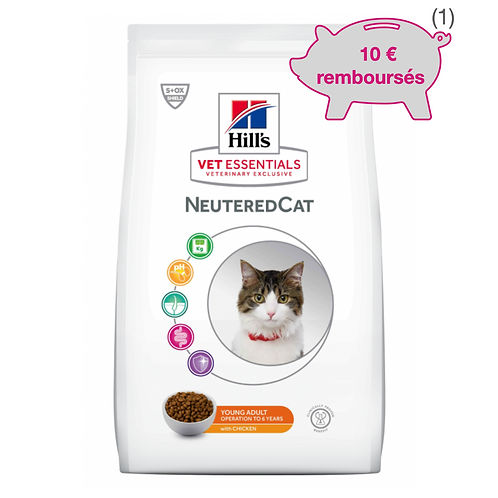 Vetessentials Young Adult Neutered Cat Poulet 8kg