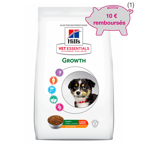 Vetessentials Canine Puppy Growth Large Poulet 16kg