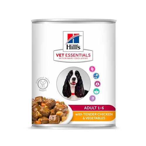 Vetessentials Canine Adult Poulet 12 Boîtes de 363g