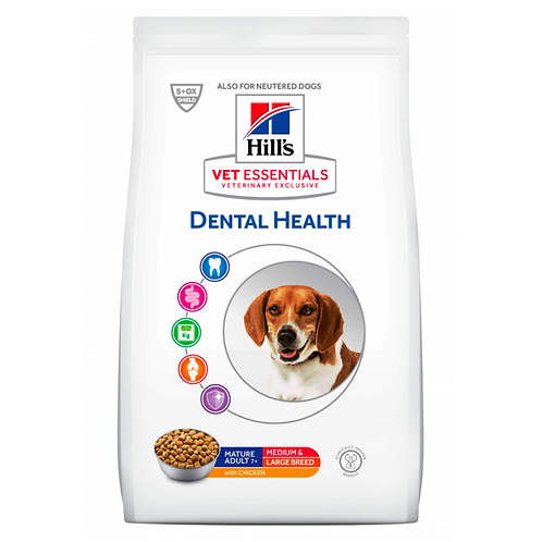 Vetessentials Canine Mature Dental Medium et Large 2kg