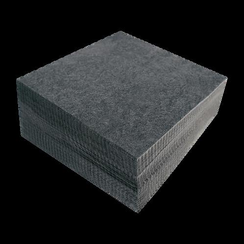 "Black Medium Weight (2.5 oz.) Cutaway Backing Squares (250 Pack) - 7 1/2"" X 7 1/"