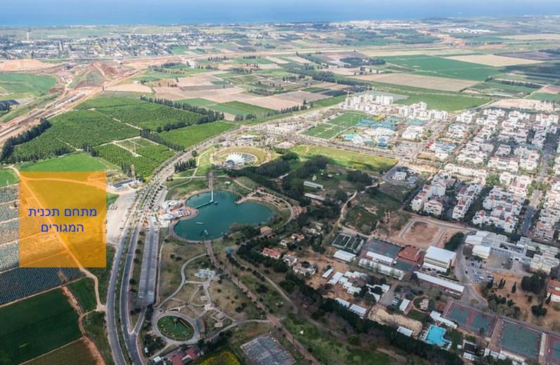תצלום אויר של מיקום רע2020 ביחס לפארק רעננה