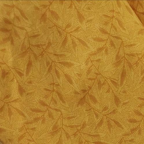 Stoffmaske Gelb gemustert