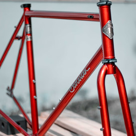 Double butted full 4130 Chromoly frame