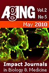 cover page of AGING, May 2010, Vol. 2. No 5