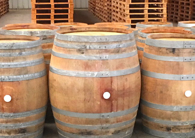Used barrels for wine makers