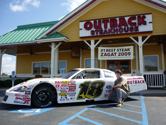 NASCAR Whelen All American Series. #18 Outback Steakhouse Chevy Impala SS. Danville, Virginia