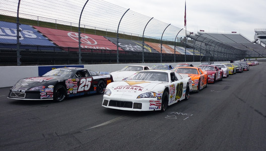 On the pole for the Martinsville heat race.