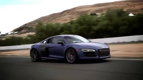 Television shoot for Audi North America. Sonoma Raceway, California. Driver Dane Rudolph.