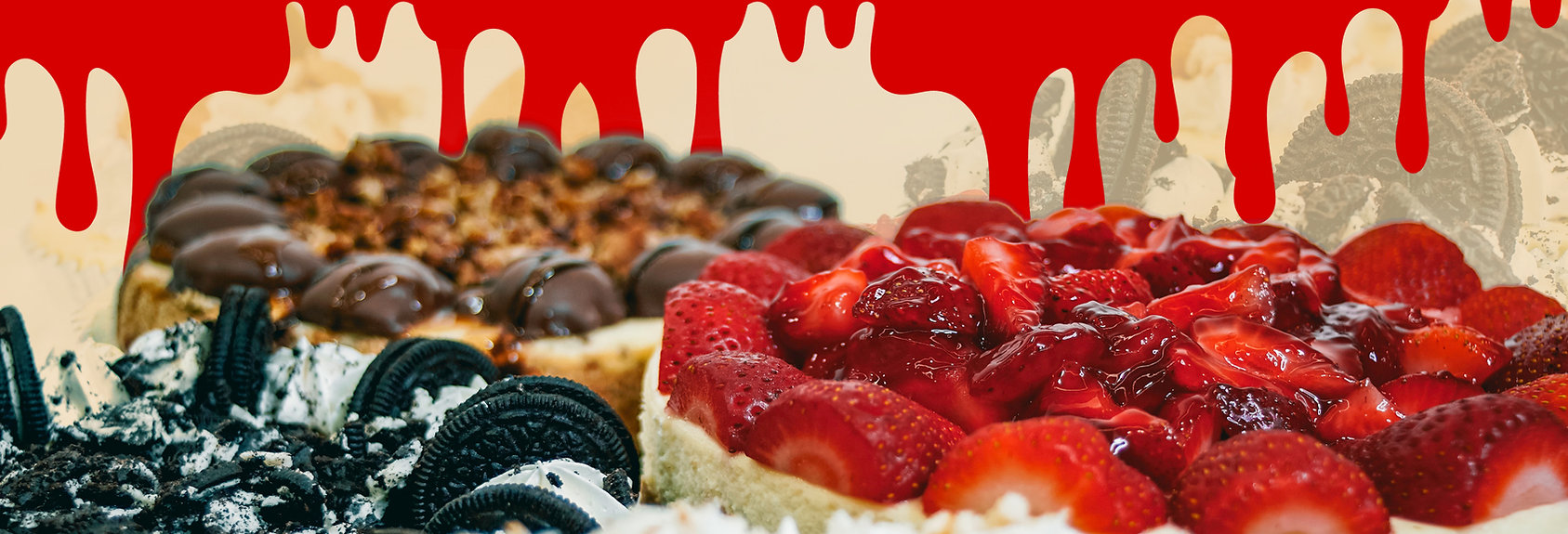 For the Love of Cheesecake Strawberry Cheesecake Oreo Cheesecake Turtle Cheesecake