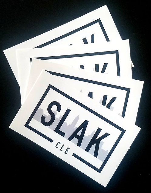 4x3 All-Weather Sticker LOGO Slak CLE