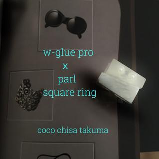 w-glue pro を使用したsquare ring