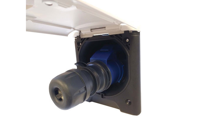 Electric Port with plug inserted