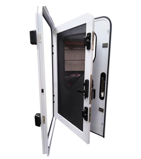 Trailer size frame, screen & door